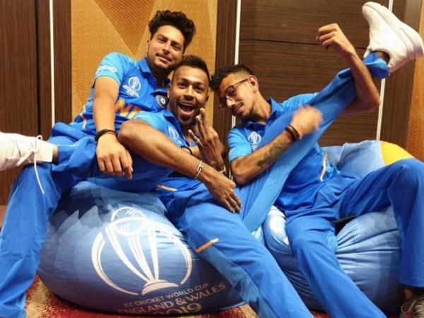 Kuldeep Yadav, Hardik Pandya and Yuzvendra Chahal (Image: Yuzvendra Chahal's Instagram)