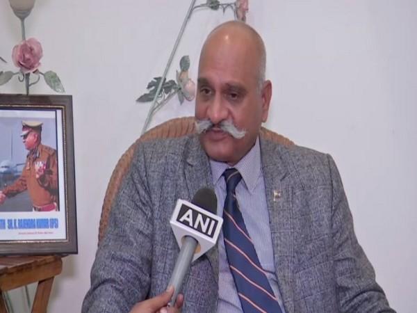Former Jammu and Kashmir DGP K Rajendra Kumar speaking to ANI in Hyderabad.