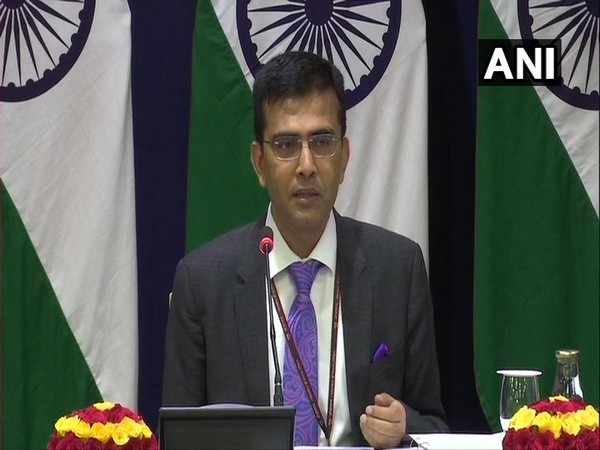 Ministry of External Affairs spokesperson Raveesh Kumar at the media briefing in New Delhi on Friday (Photo/ANI)