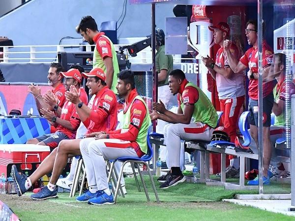 KXIP coach Anil Kumble with teammates. (Image: BCCI/IPL)
