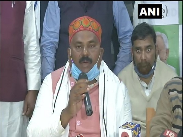 Newly appointed Bihar JDU chief Umesh Kushwaha during a press conference in Patna. (Photo/ANI)