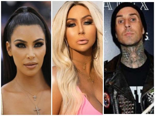 Kim Kardashian, Aubrey O'Day and Travis Barker (Image courtesy: Instagram)
