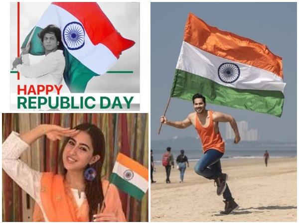 Shah Rukh Khan, Sara Ali Khan and Varun Dhawan celebrate Republic day (Image courtesy: Instagram)