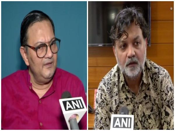 Chandra Kumar Bose (left) and Filmmaker Srijit Mukherji (right) speaking to ANI on Thursday in Kolkata, West Bengal.