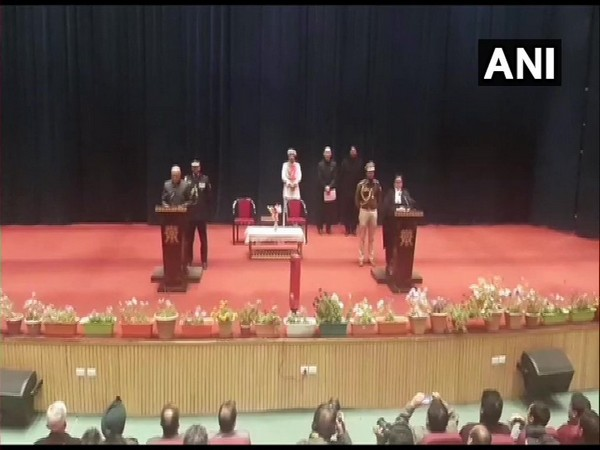 Radha Krishna Mathur on Thursday took oath as the first Lieutenant Governor of Union Territory of Ladakh.