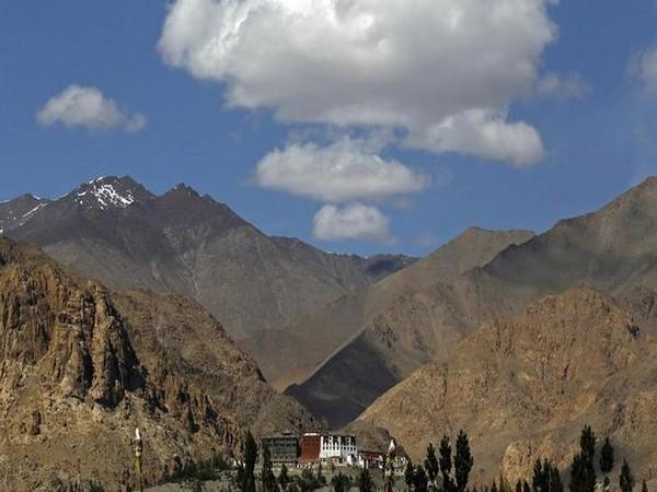 A veiw of  Phyang monastery in Leh.