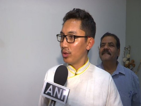 Ladakh MP Jamyang Tsering Namgyal speaking to ANI in New Delhi. photo/ANI