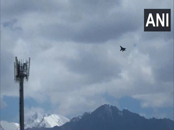 Fighter jet activity seen in Leh, Ladakh (Photo/ANI)
