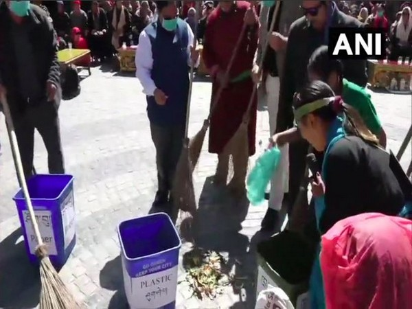 A mass cleanliness drive and awareness programme was organised in Leh.