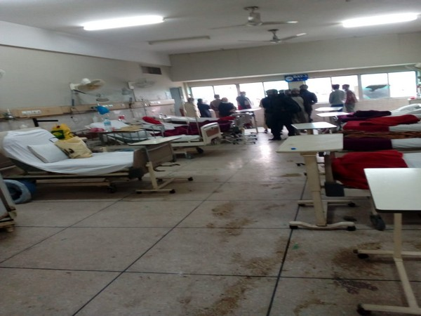 The ward of a hospital in Lahore where an attack took place on Wednesday