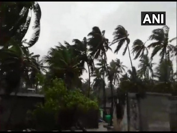 Kalpeni Island in Lakshadweep gets heavy rains and gusty winds on Thursday. Photo/ANI