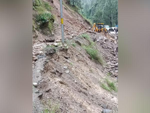 Visuals of landslide at Shojha in Kullu district, Himachal Pradesh
