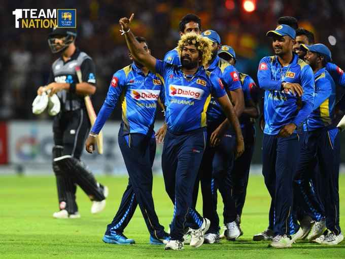 Lasith Malinga was named man of the match for his exceptional performance. (Photo/Sri Lanka Cricket Twitter)