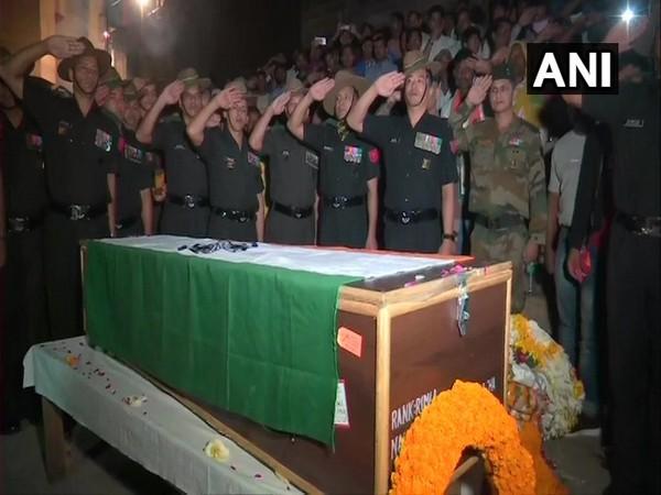 Last rites of Indian Army Rifleman Gamil Kumar Shrestha was held in Varanasi on Tuesday