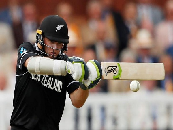 New Zealand batsman Tom Latham while playing a shot.