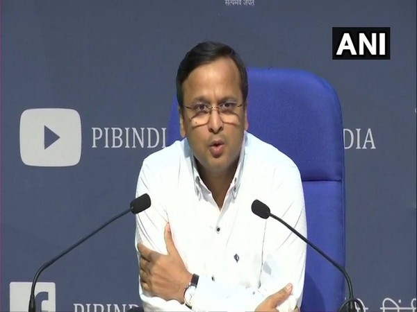 Lav Aggarwal, Joint Secretary, Health and Family Welfare, speaking at a press conference in New Delhi on Sunday. Photo/ANI