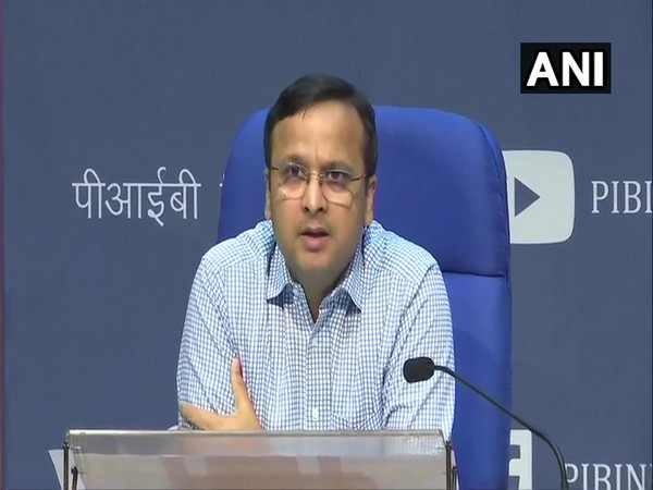 Lav Agarwal, Joint Secretary, Union Health and Family Welfare Ministry, during a press briefing in New Delhi on Friday. Photo/ANI