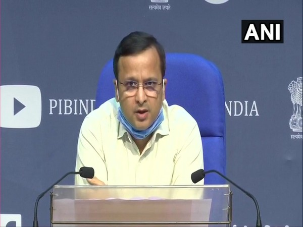 Joint Secretary, Ministry of Health, Lav Aggarwal speaking to media in New Delhi on Friday. Photo/ANI