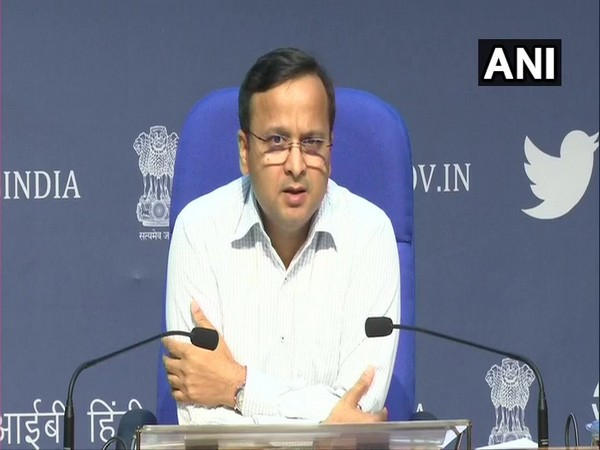 Lav Aggarwal, Joint Secretary, Ministry of Health and Family Welfare, addressing a press conference in New Delhi on Saturday. Photo/ANI