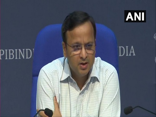 Lav Agarwal, Joint Secretary, Ministry of Health and Family Welfare, briefing media about COVID-19 status in the country in New Delhi on Monday.
