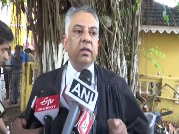 Victim's family lawyer Vikram Verma speaking to to medi in Panaji, Goa on July 17. Photo/ANI.