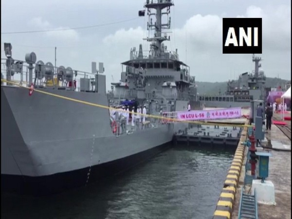 Landing Craft Utility (LCU) MK IV class ships 'LCU L 56' commissioned into Indian Navy