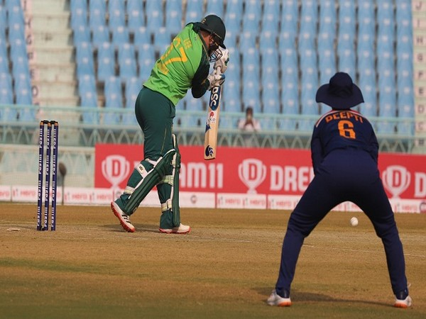 South Africa batter Lizelle Lee in action during the third ODI (Image: ICC)
