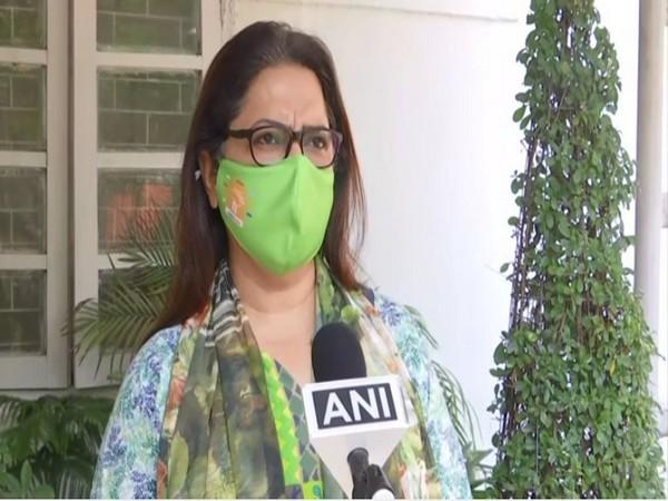 BJP MP Meenakshi Lekhi speaking to ANI in New Delhi on Saturday.