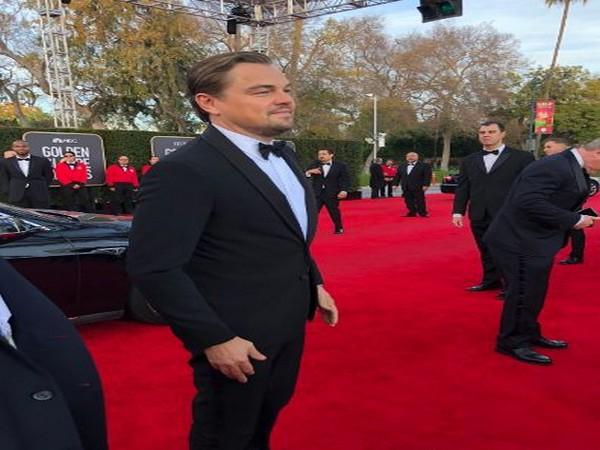 Leonardo DiCaprio at red carpet of Golden Globe Awards (Image Source: Twitter)