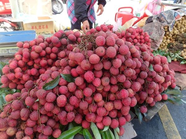 Litchi fruit.