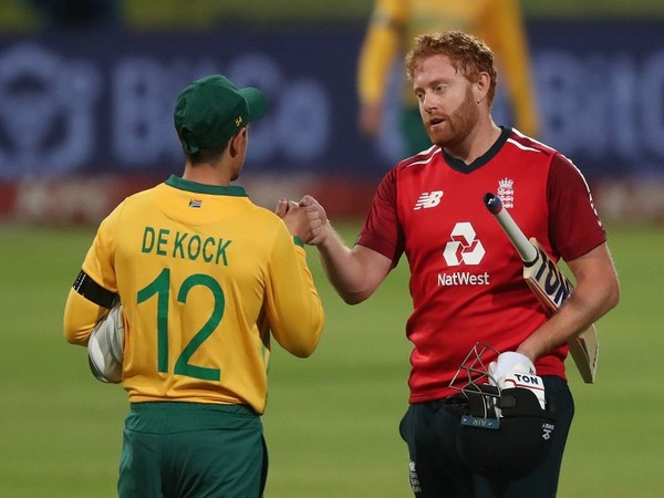 South Africa skipper Quinton de Kock and England's Jonny Bairstow
