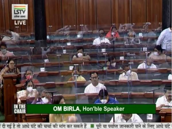 Visual from Lok Sabha