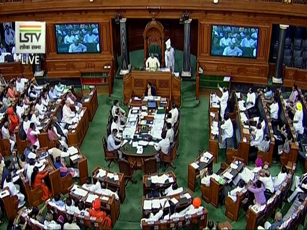 File photo of a Lok Sabha session in process