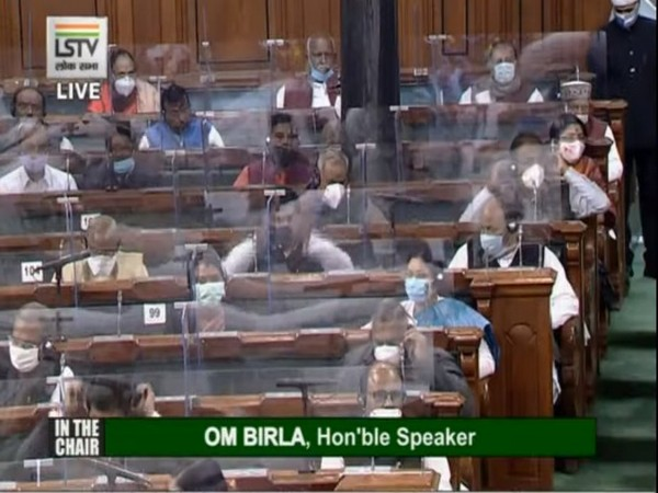 A visual from Lok Sabha.