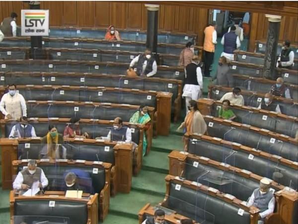 A visual from Lok Sabha