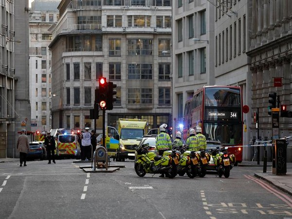 Police, emergency vehicle were seen near site of an incident at London Bridge