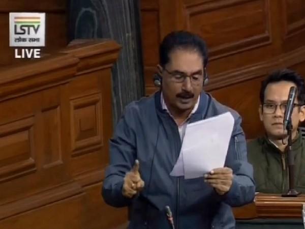 Revolutionary Socialist Party MP, NK Premachandran speaking in Lok Sabha on Monday. (Image courtesy: LSTV)