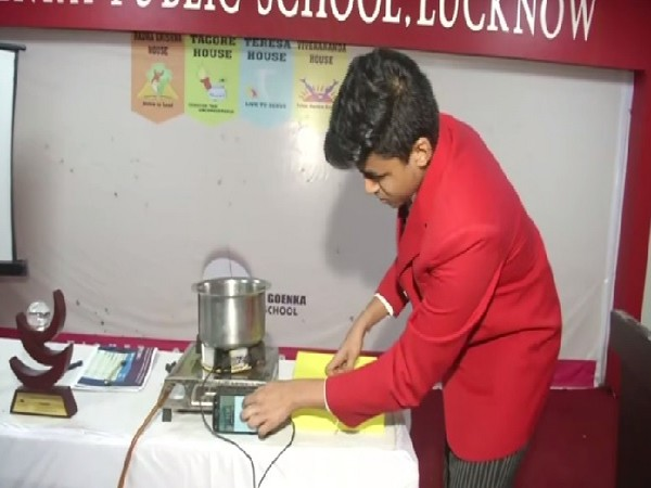Pranjal Srivastava who made thermoelectric stove generator in Lucknow, Uttar Pradesh.