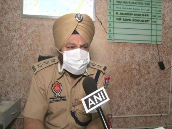ACP Gurbinder Singh speaking to ANI in Ludhiana on Thursday.