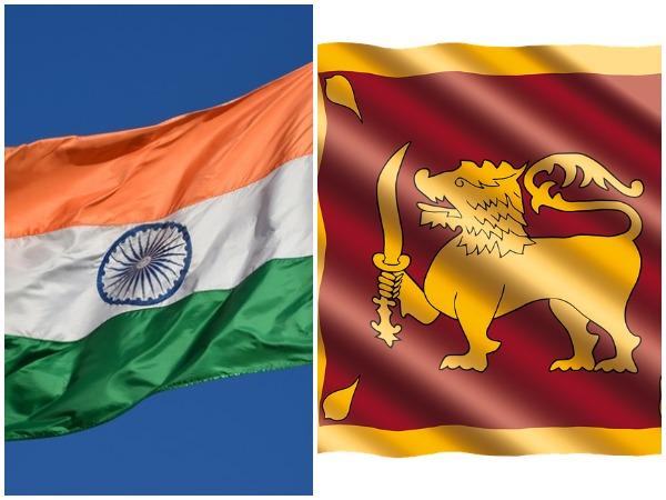 Indian and Sri Lankan flag