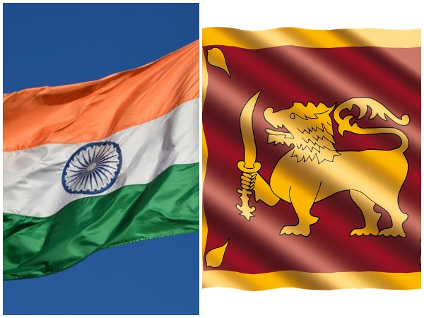India and Sri Lankan flags