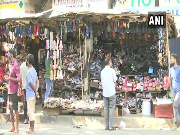 Shops seen open in Matunga area of Mumbai amidst Bharat Bandh. (Photo/ANI)