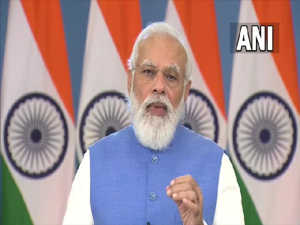 Prime Minister Narendra Modi speaking at a Virtual COVID-19 Summit on the margins of the UN General Assembly.