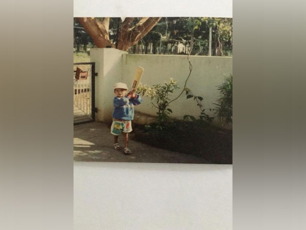 Mayank Agarwal's childhood photo. (Photo/Mayank Agarwal Twitter)