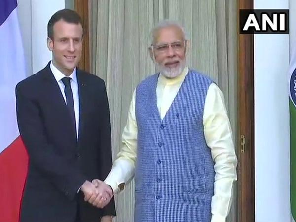 File photo of Prime Minister Narendra Modi with French President Emmanuel Macron
