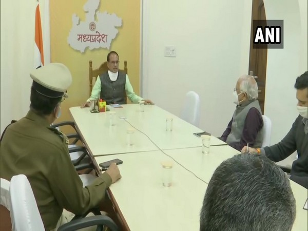 Madhya Pradesh Chief Minister Shivraj Singh Chouhan on Sunday held a meeting with officials over the law and order situation in the state.