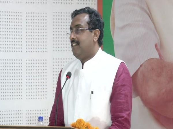 BJP national general secretary Ram Madhav. Photo/ANI