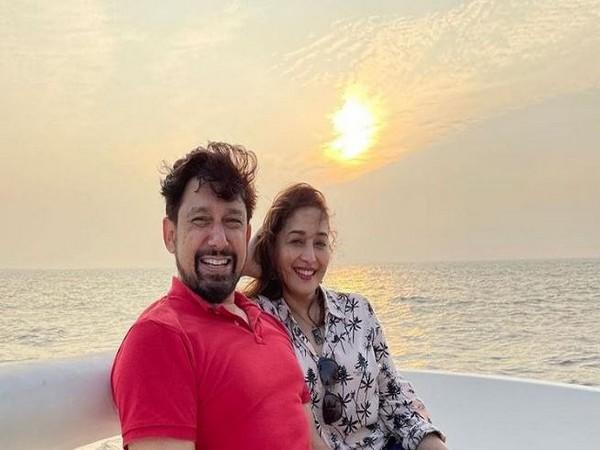 Actor Madhuri Dixit with husband Dr. Sriram Nene (Image Courtesy: Instagram)