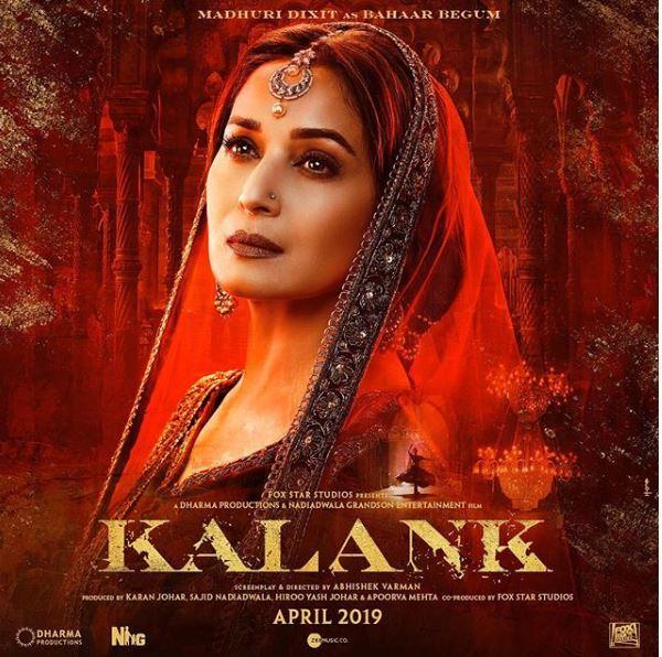 Madhuri Dixit as Bahaar Begum in 'Kalank'