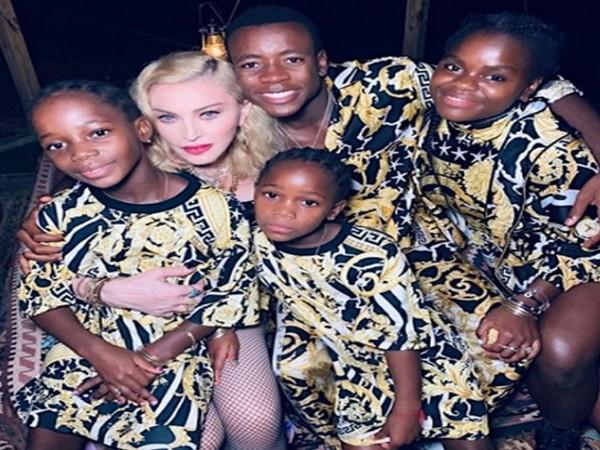Madonna with her children (Image Source: Instagram)